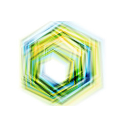 Colorful hexagon abstract shapes background vector