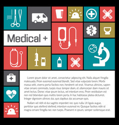 Medical help and health background vector