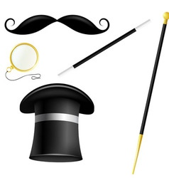 Accessory set english gentleman vector