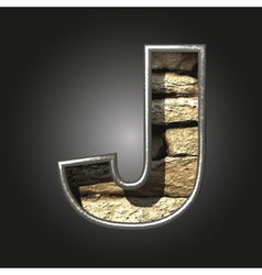 Old stone letter j vector