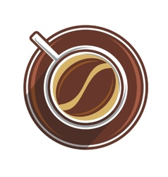 Coffee bean in a coffee cup vector image