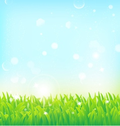 Light spring field background vector