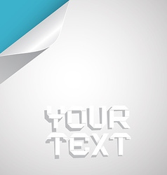 Paper Layout - Template with Bent Corner vector image