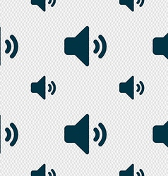 Speaker volume sound icon sign seamless pattern vector