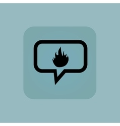 Pale blue fire message icon vector