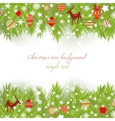 Christmas tree borders vector
