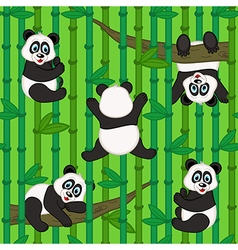 Seamless pattern with panda vector