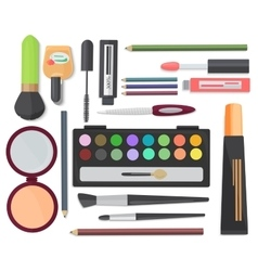 Cosmetic set isolated on a white background top vector