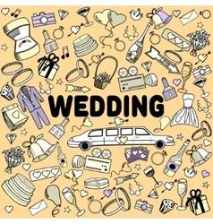 Wedding line art design vector