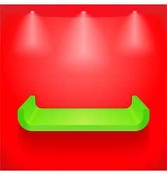 Green shelf vector image