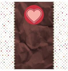 Be My Valentine vintage Design retro EPS 8 vector image vector image