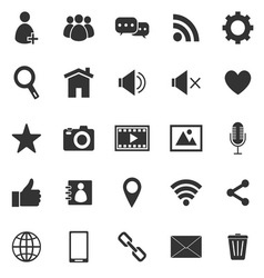 Chat icons on white background vector