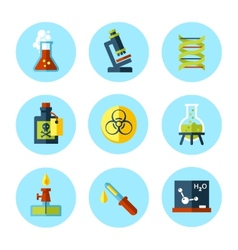 chemistry icon set in modern flat style vector image vector image