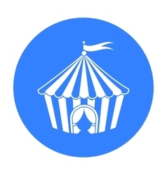Circus tent icon in black style isolated on white vector image