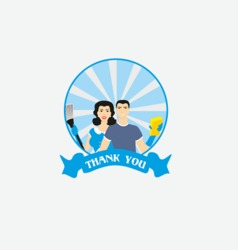 Cleaning company logo vector