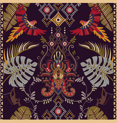 Colorful with bird and tropical vector