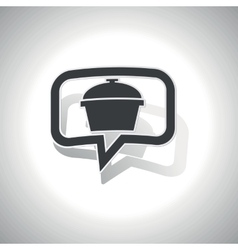 Curved pot message icon vector image vector image