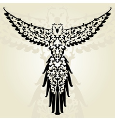 decorative parrot vector image