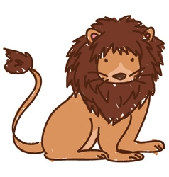 Doodle lion vector image vector image