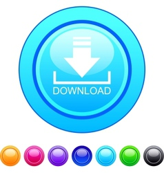 Download circle button vector
