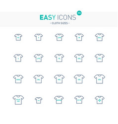 Easy icons 33e cloth size vector