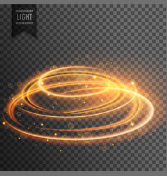 glowing lens flare transparent light effect with vector image