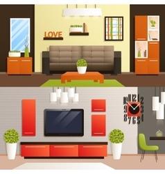 Living room set vector