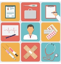 Medical Icons Set Flat Design vector image vector image