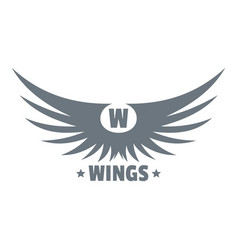 modern wing logo simple gray style vector image