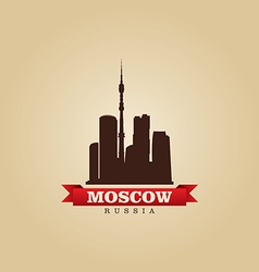 Moscow Russia city symbol vector image