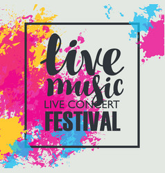 Music festival poster with bright abstract spots vector