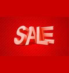Sale 3d text message vector image