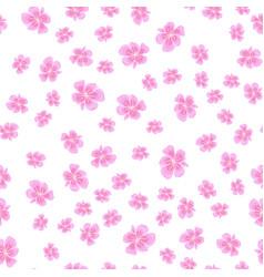 seamless sakura pattern vector image vector image