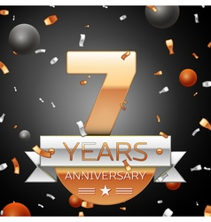 Seven years anniversary celebration background vector