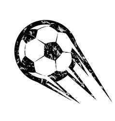 soccer ball football symbol in grunge style vector image vector image