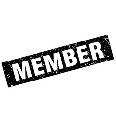 Square grunge black member stamp vector