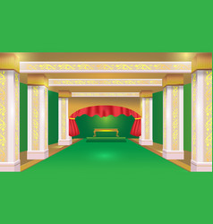 Stateroom green luxury design background vector
