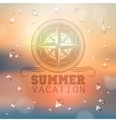 Summer typography background vector image vector image