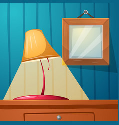 table lamp frame stone table - cartoon vector image