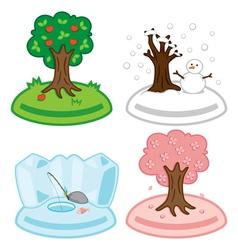 Various cartoon islands vector image