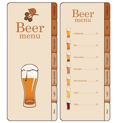 Beer website vector