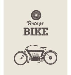 Vintage bike vector image