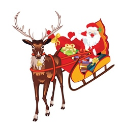 Santa in sleigh vector