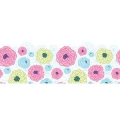 Lovely flowers horizontal seamless pattern vector image