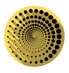 abstract technology circles sign  flat vector image