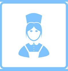 Hotel maid icon vector