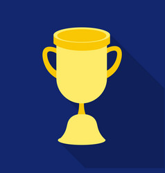 Goblet icon flat single education icon from the vector