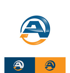 initial letter a logo vector image