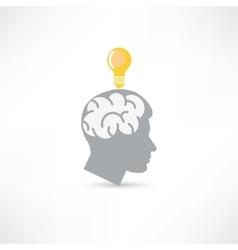 man with idea icon vector image