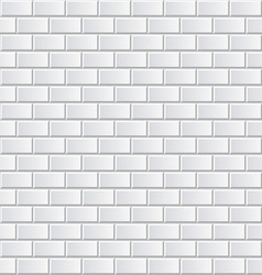 White brick wall seamless background vector